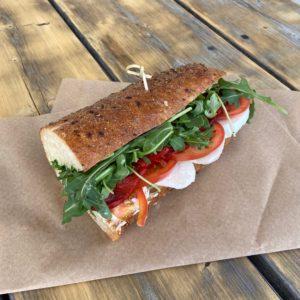 Turkey Sandwich on Table